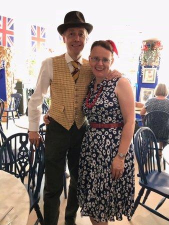 Hemswell Cliff, UK: Dealers in 1940s dress