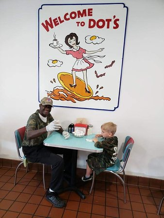 Dots Diner: Jaxon just LOVED this guy.