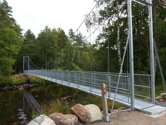 Knared, Szwecja: Den nye hængebro, en gyngende fornemmelse