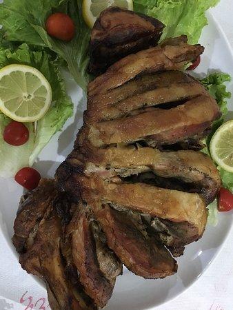 Fushe Kruje, Albania: Pork in oven