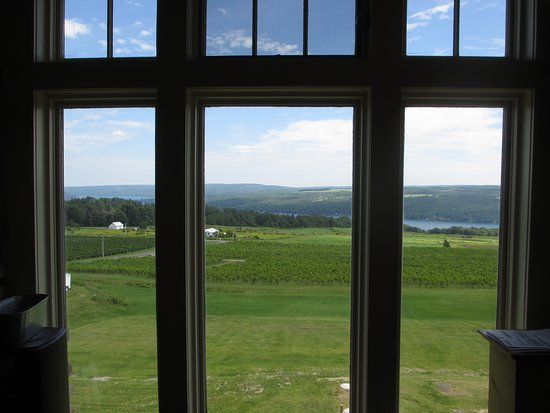 Heron Hill Winery: From the tasting room - view of Lake Keuka