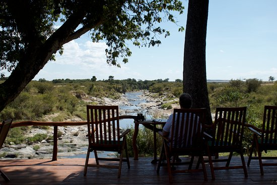 Rekero Camp, Asilia Africa: View from the deck overlooking the Talek River.