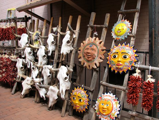 Santa Fe Plaza: Items for Sale on the Plaza