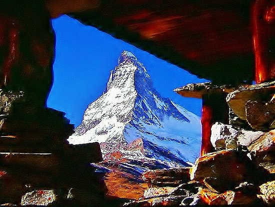 Christ Blessing: Mt. MATTER HORN SWITZERLAND and this photo belongs to isamukitafuji@hotmail.com