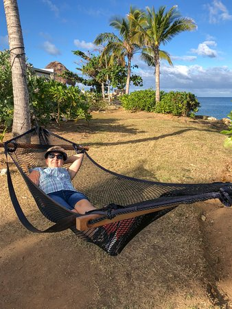 Relaxing in a hammock  - Picture of Fiji Marriott Resort Momi Bay
