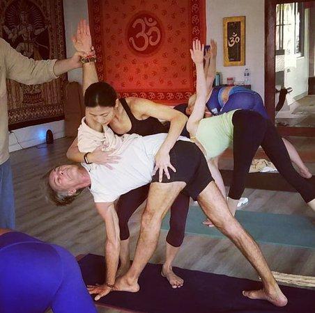 Art Of Adjustment Training With Rich For Teacher Training Students Picture Of Traditional Ashtanga Yoga Shala Phuket Chalong Tripadvisor
