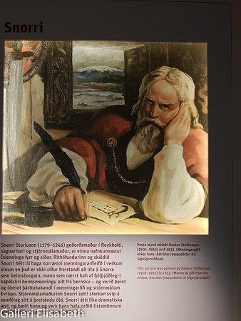 Snorrastofa: Bild på hur Snorre kan ha sett ut