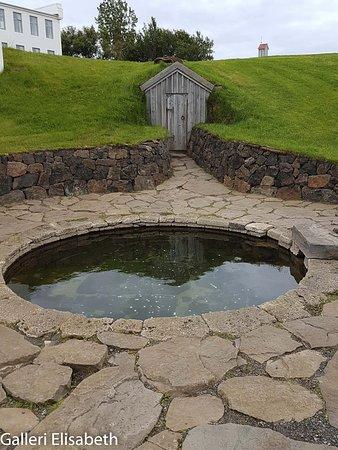 Snorrastofa: Badet där han tog emot personer
