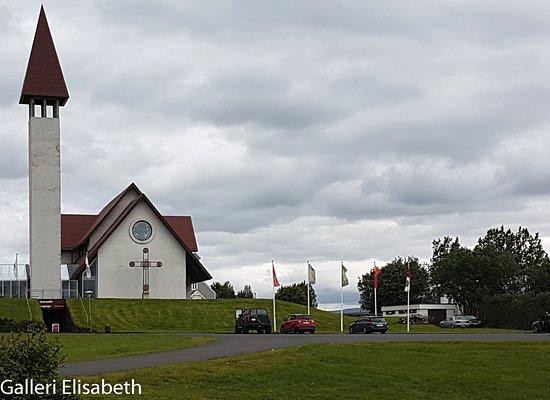 Snorrastofa: Nya kyrkan med samlingssalar