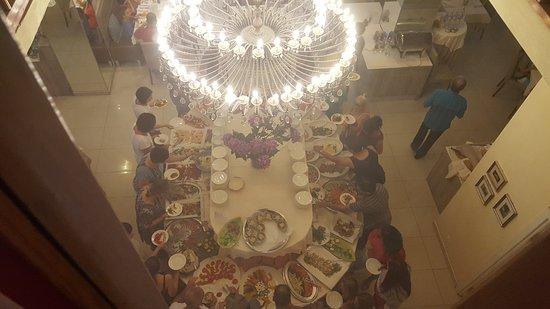 Hotel Bembo: Buffet della cena visto dall'alto!!!! Che dire !!!Fantastico!!!