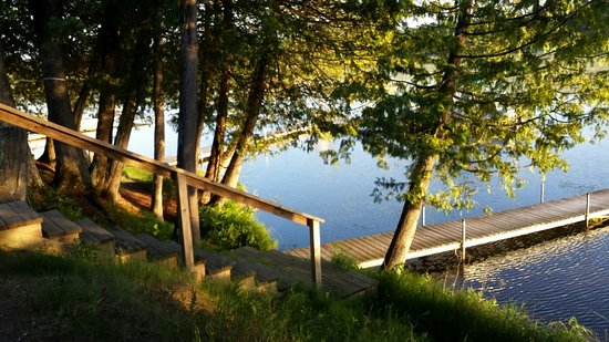 Remer, MN: Natural shoreline along Big Sand Lake