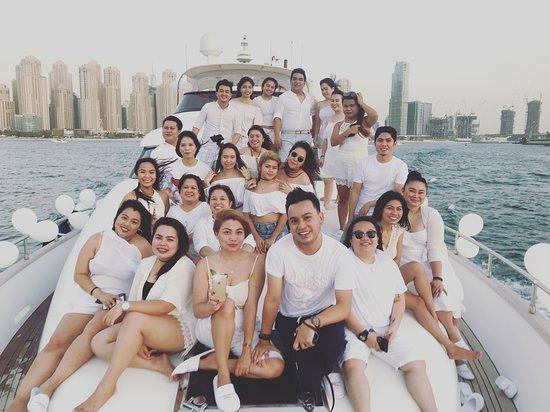 Dubai Marina Tours : All White Crew Cruising