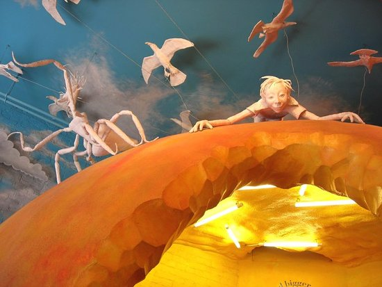 Aylesbury, UK :  Roald Dahl Children's Gallery - Giant Peach