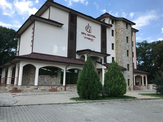 Karnobat, Bulgaria: The hotel from the front