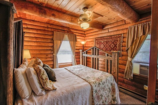 The Moose Family Cabin Master Bedroom With Queen Bed Picture Of