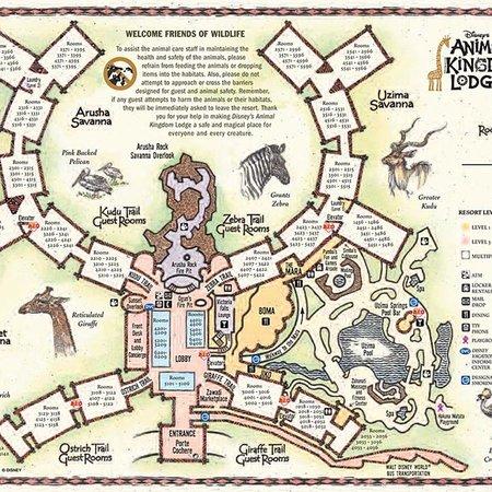 Animal Map of disneys animal kingdom lodge resort - Picture ...