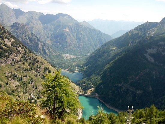 Antrona Schieranco, Италия: I due bacini dal punto panoramico