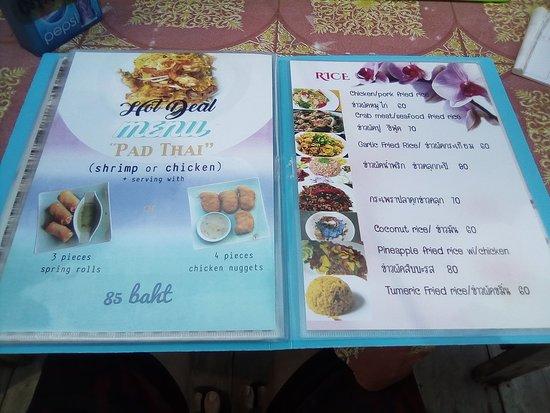 Naat Restaurant: Menu special