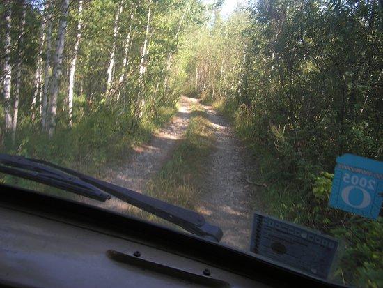 Myski, Russland: дорога на р.Средняя Терсь