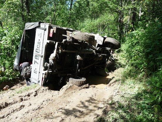 Myski, Russland: нелёгкая дорога на р.Средняя Терсь
