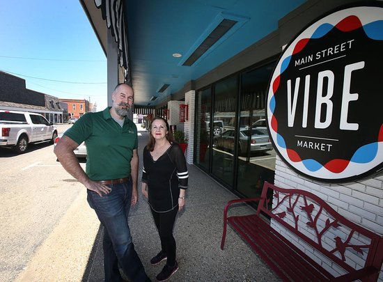 McGregor, TX: The VIBE Market took over the Strand's busineses!  15,000 sq. feet of a great variety of shoppin