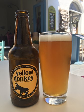 Santorini Brewing Company : Yellow Donkey