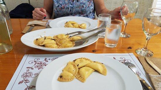 Pupnat, Croatia: homemade ravioli with goat cheese
