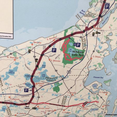 on cape cod rail trail map