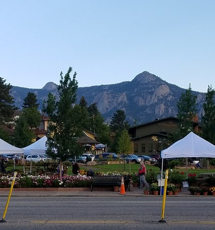 Farmers Market With Mountains In Background Picture Of