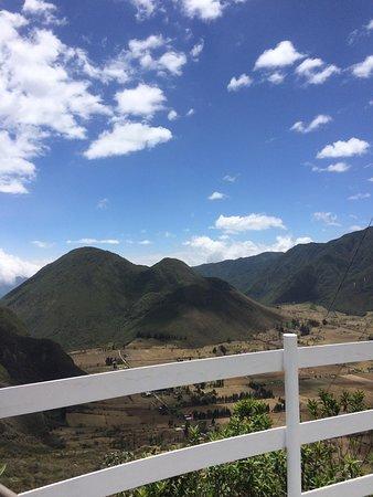 Calacali, Ecuador: Vista desde la cafetería
