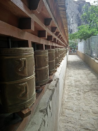 Alchi Monastary: Prayer wheels
