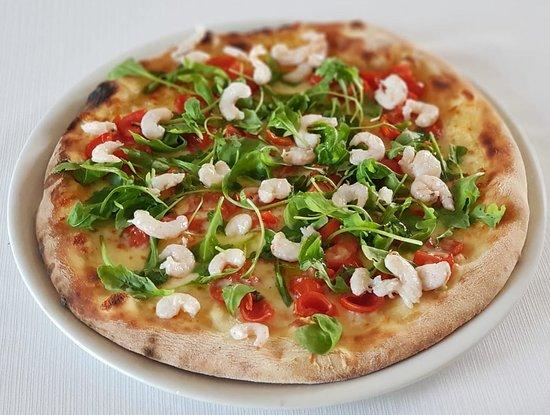 Mazzarone, อิตาลี: Pizza con gamberetti