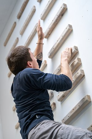 Flash Climbing Centre: Our campus board has challenges for advanced climbers