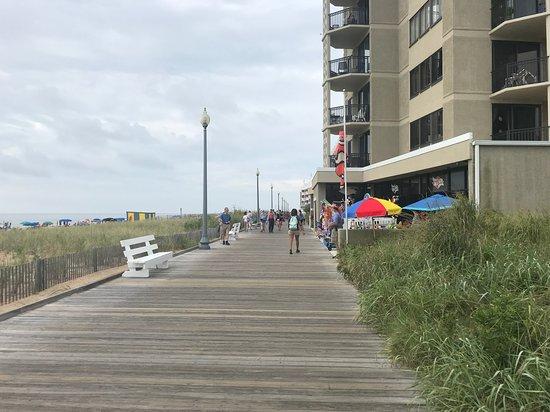 Looking Down The Rehoboth Beach Boardwalk 2018