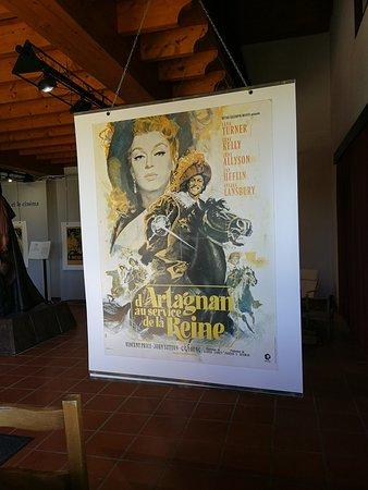 Lupiac, Frankrike: Un affiche de film.