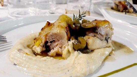 Osteria Ophis: Pollo ncip e nciap su crema di patate