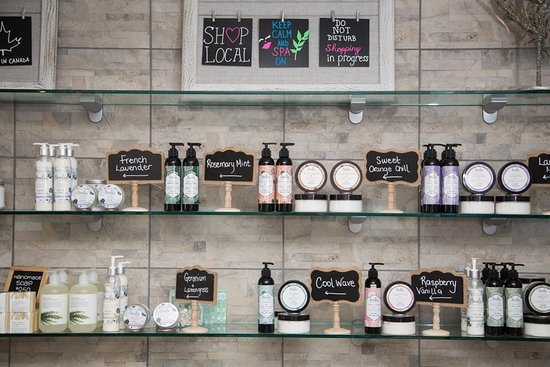Brockville, Canadá: We care Boudica body lotions and soaps