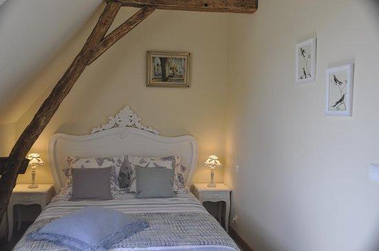 """Cussay, France: Suite """"Fleurs et Oiseaux"""" chambre Oiseaux"""