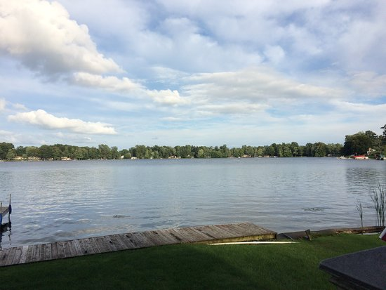 Stanton, MI: View of the lake, from the deck