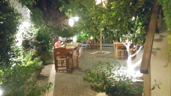 Rethymnon Prefecture, Greece: Πισω χωρος ακομη πιο prive και εντελως ησυχος