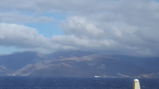 Fred. Olsen Express: view of La Gomera from ferry