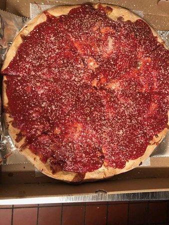 Ilion, NY: Upside down pizza