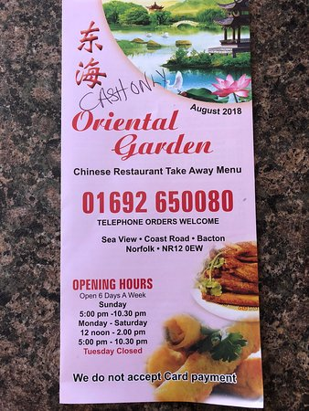 full view - Oriental Garden Menu