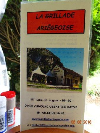 Ornolac-Ussat-les-Bains, Francia: L'adresse