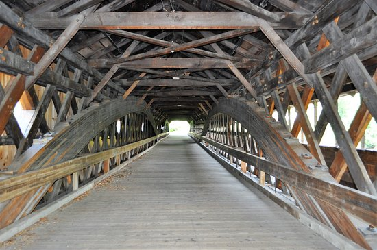 Haverhill-Bath Covered Bridge: Stunning craftmanship