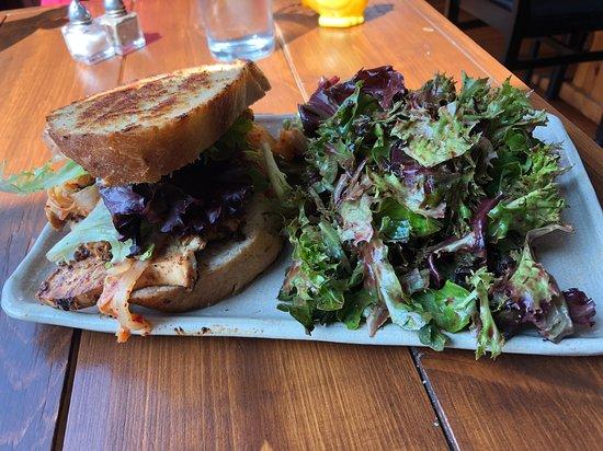 Farmhouse Madeline Island: Korean BBQ sandwich