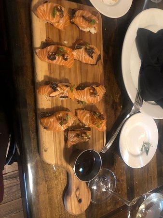 Mount Vernon, TX: Elk Thai style and sashimi