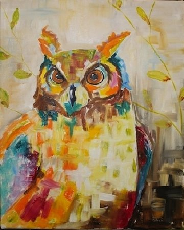 Edmond, OK: Paint Your Art Out - Horned Owl