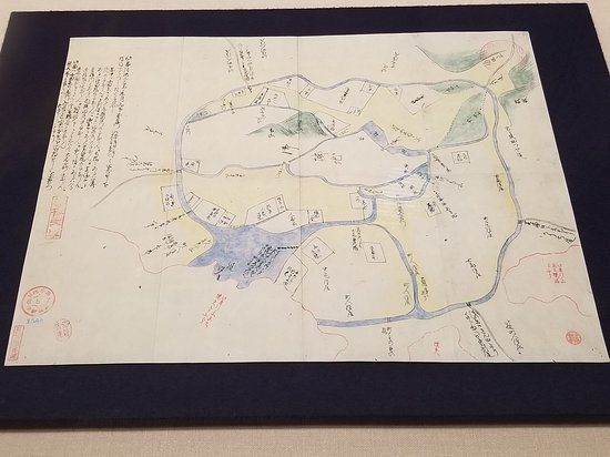Exhibit map of Edo - Circa 1602 - Picture of Edo-Tokyo Museum ...