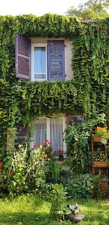 Hotel de Bourgogne: fenêtres des chambres donnant sur le jardin